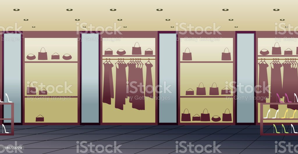 store interior royalty-free stock vector art