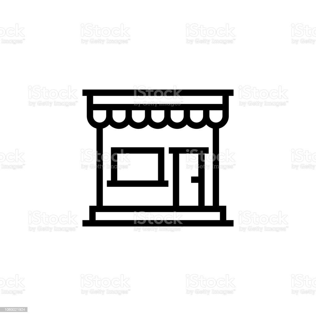 Ilustración de Tienda Línea Icono y más Vectores Libres de Derechos