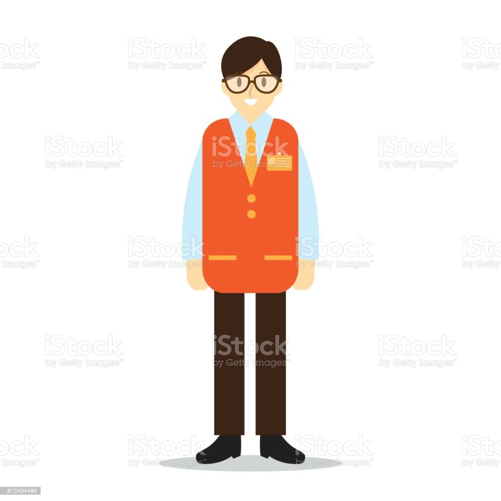 top retail employee clip art vector graphics and