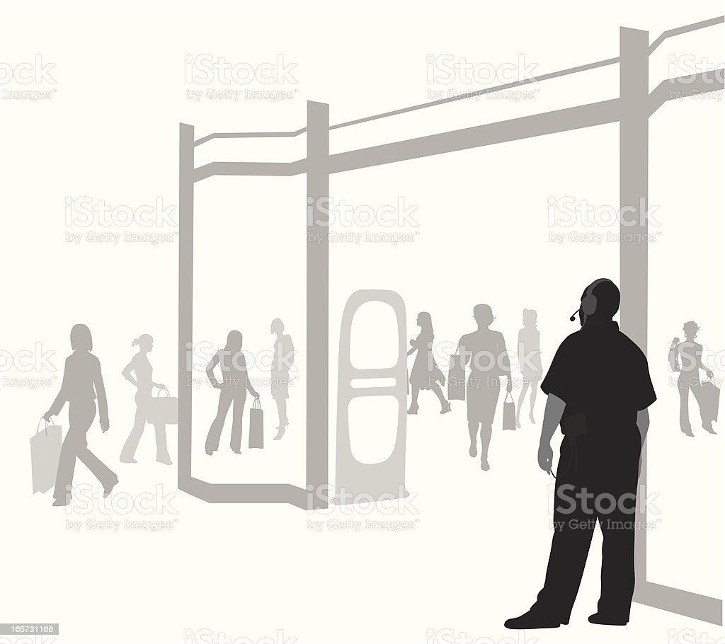Store Security Vector Silhouette royalty-free store security vector silhouette stock vector art & more images of adult