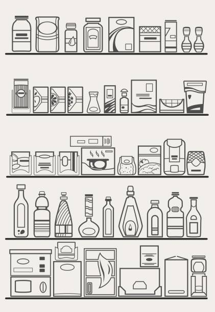 Best Food Pantry Illustrations, Royalty-Free Vector ...