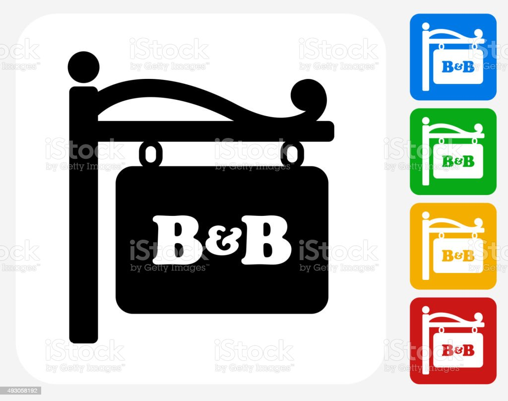 Store Sign Icon Flat Graphic Design vector art illustration