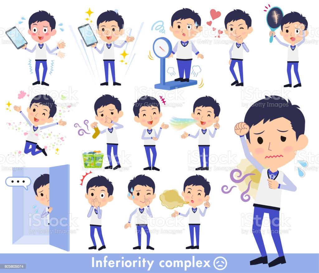 Store staff Blue uniform men_complex