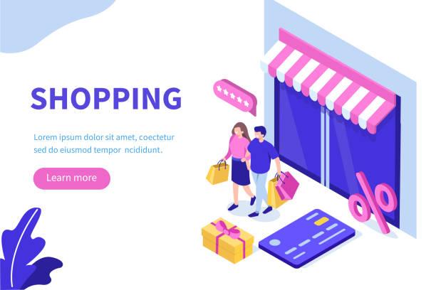 ilustrações de stock, clip art, desenhos animados e ícones de store - online shopping