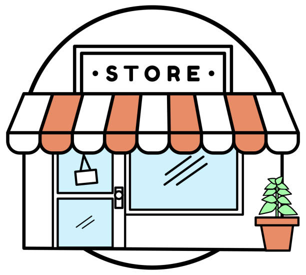Store vector art illustration