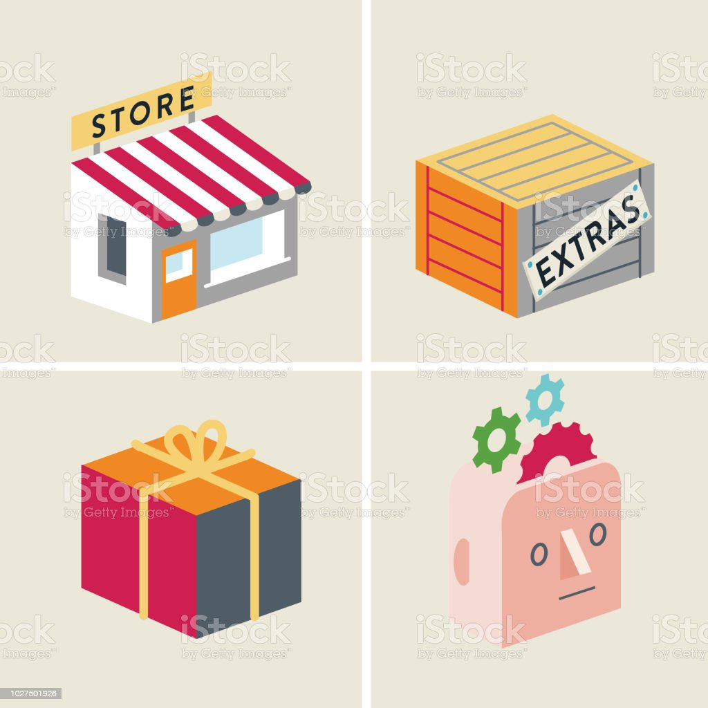 store-extras-gift-memory vector art illustration