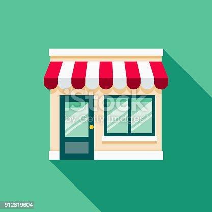 istock Storefront Flat Design E-Commerce Icon 912819604