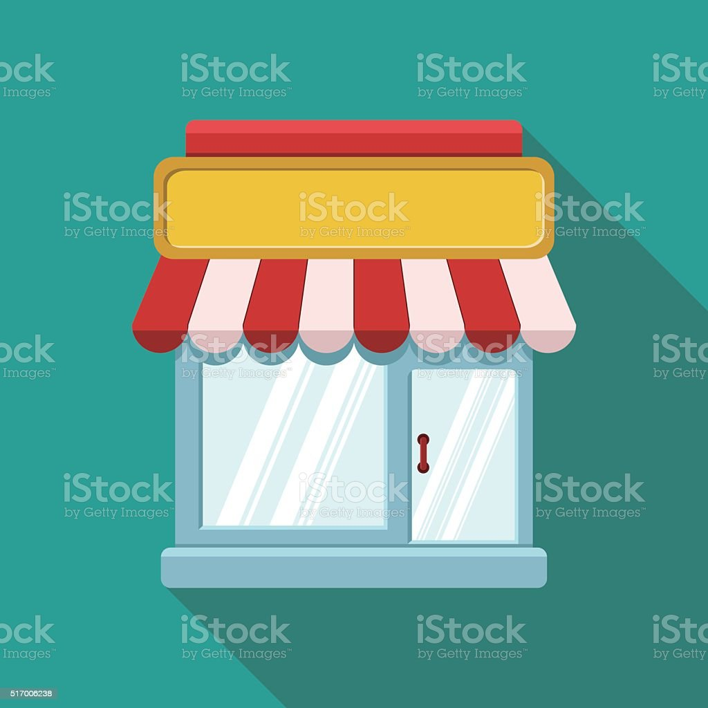 Storefront Icon-shopping Concept vector art illustration
