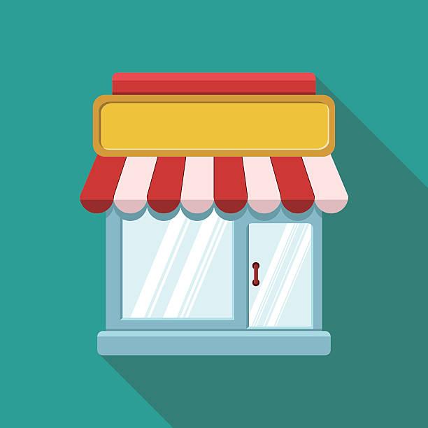 illustrations, cliparts, dessins animés et icônes de vitrine-shopping concept icône - vitrine magasin