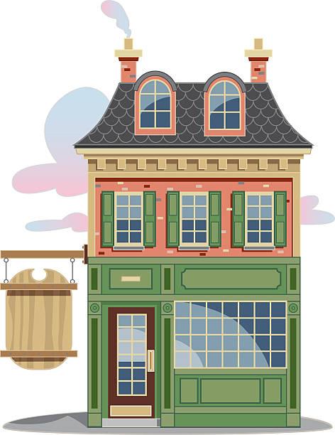 storefront - straßenschilder stock-grafiken, -clipart, -cartoons und -symbole