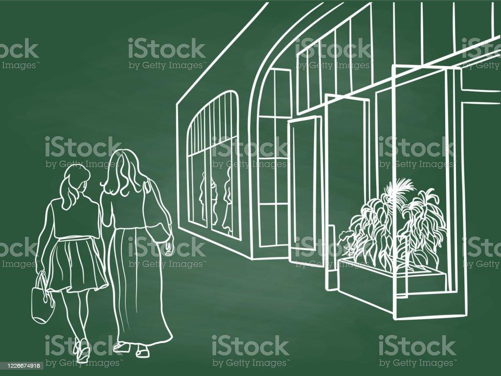 StorefrontElegantFashion - Grafika wektorowa royalty-free (Bazgroły - Rysunek)