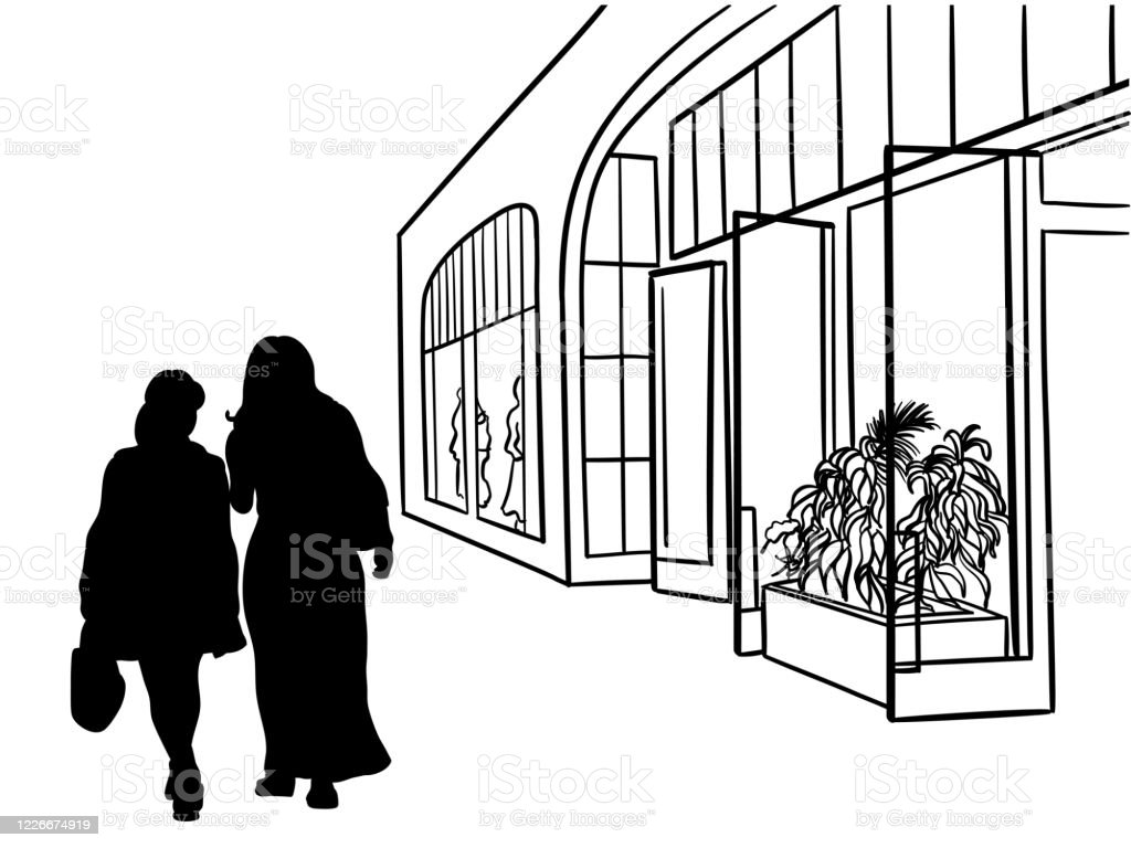 StorefrontElegantFashion - Grafika wektorowa royalty-free (Atrament)