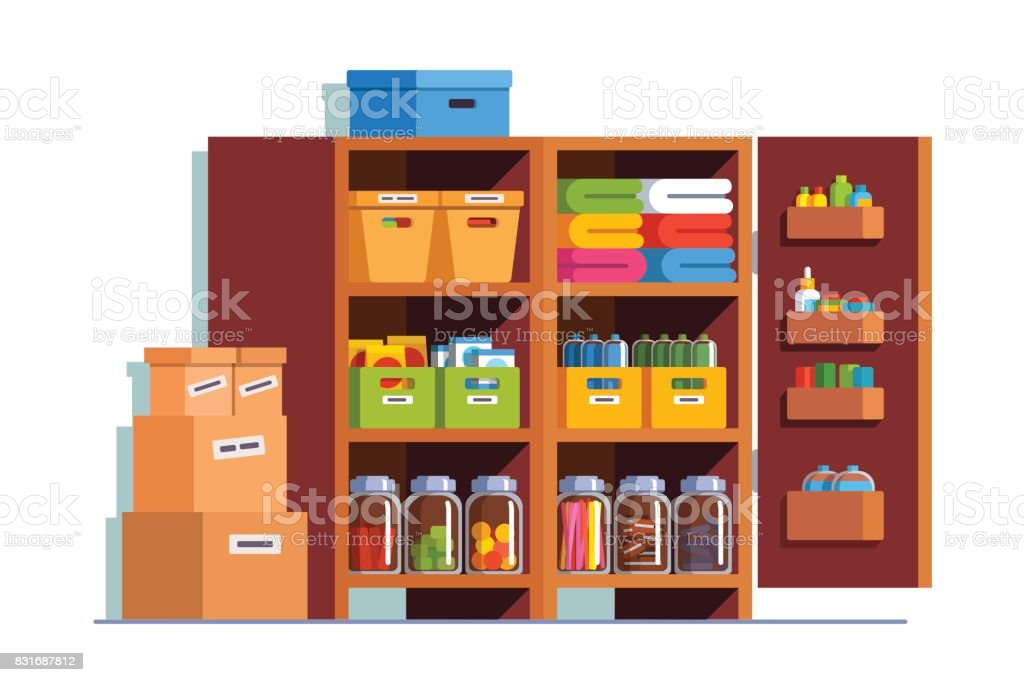 Cupboard clipart  Royalty Free Pantry Cabinet Clip Art, Vector Images & Illustrations ...