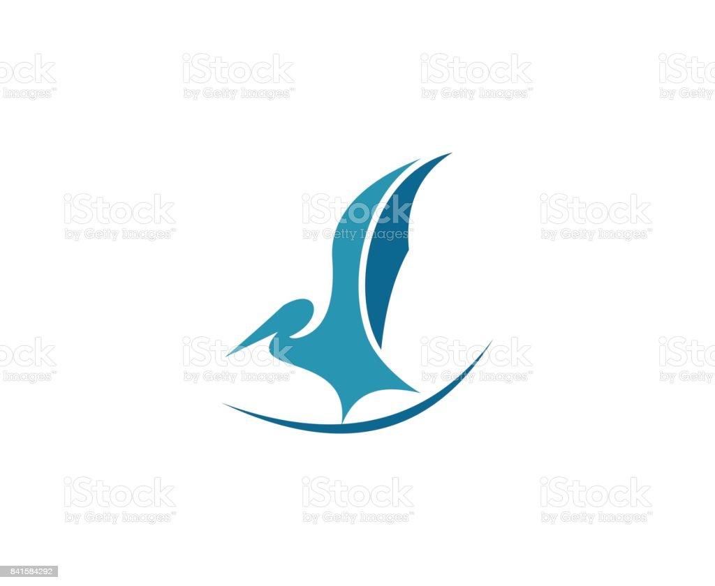 Stork icon vector art illustration