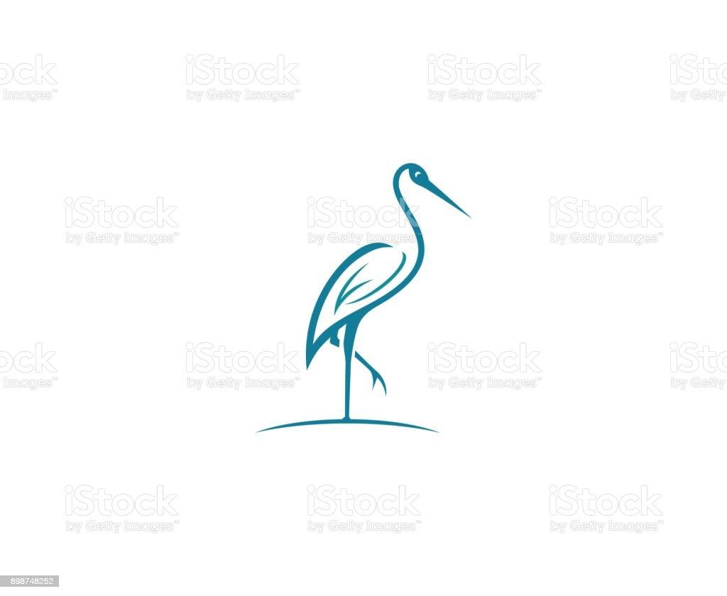 Stork icon - illustrazione arte vettoriale