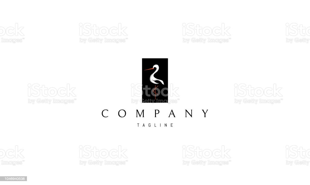 Stork vector logo image