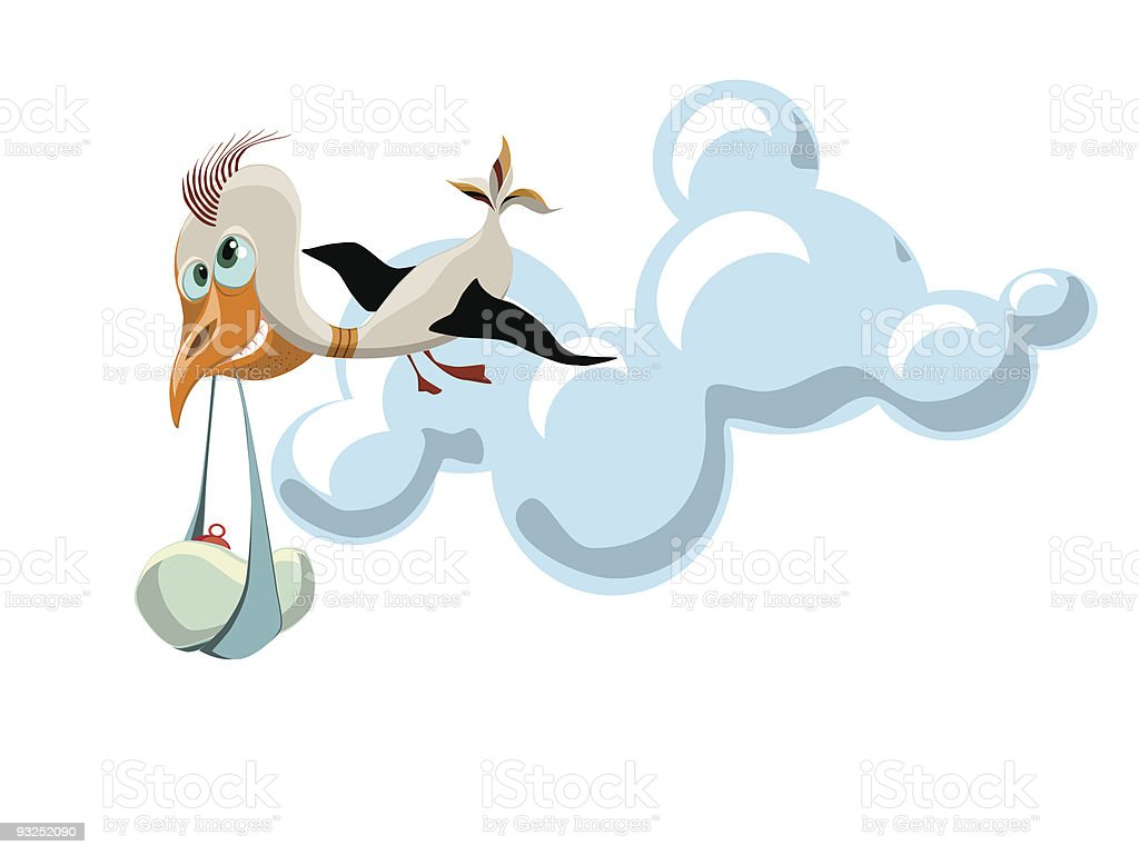 stork with a baby royalty-free stork with a baby stock vector art & more images of animal wing