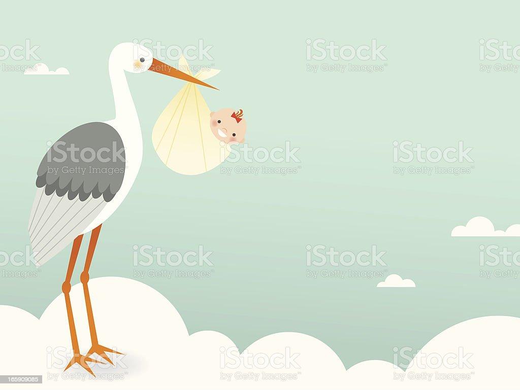 Stork's Bundle of Joy royalty-free storks bundle of joy stock vector art & more images of anticipation