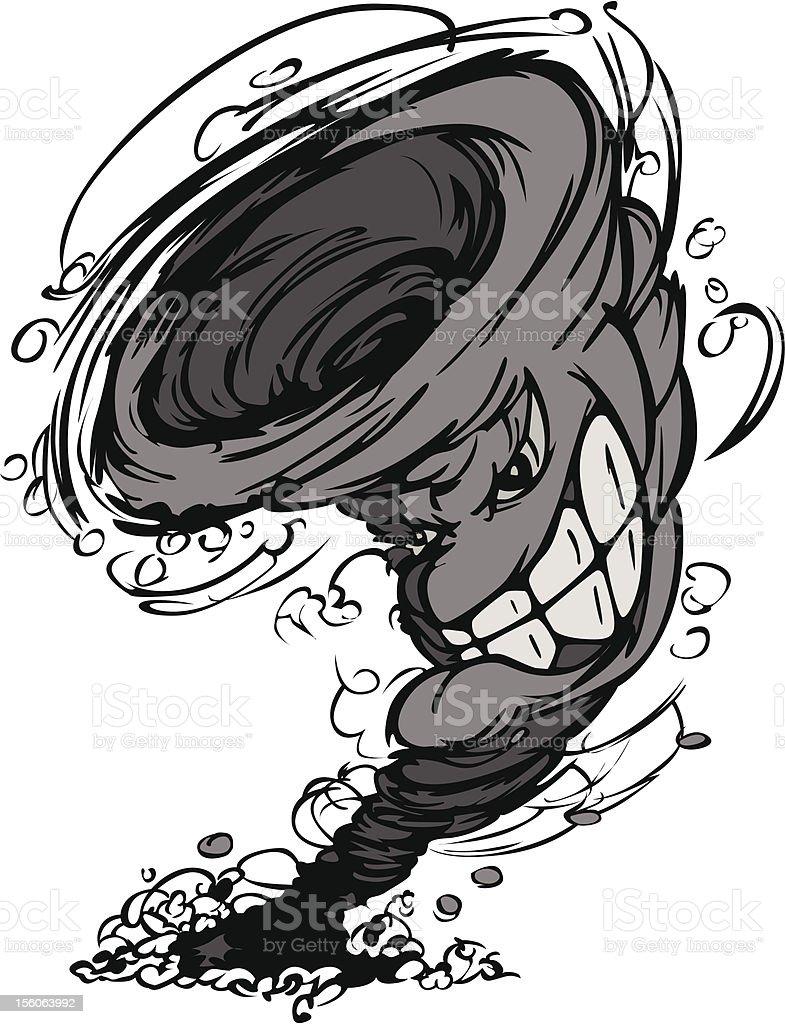 Storm Tornado Mascot  Vector Cartoon Image royalty-free stock vector art