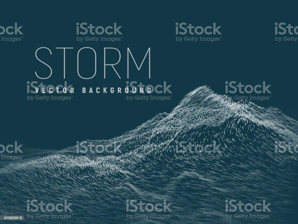 Sturm. Vektor-Hintergrund – Vektorgrafik