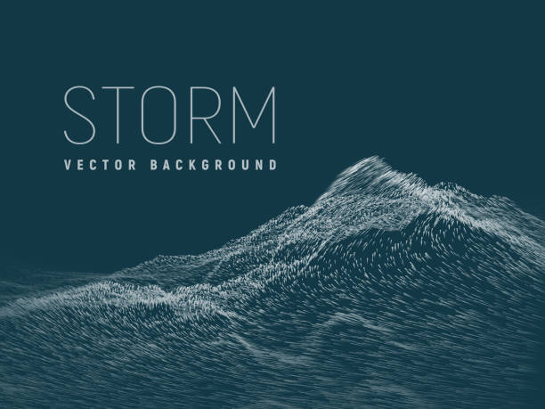 stockillustraties, clipart, cartoons en iconen met storm. vector achtergrond - depth vector