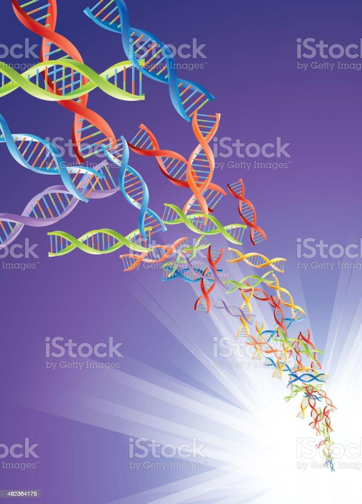 DNA storm royalty-free stock vector art