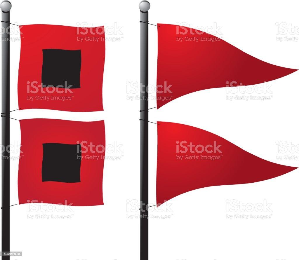 Storm Warning Flags vector art illustration