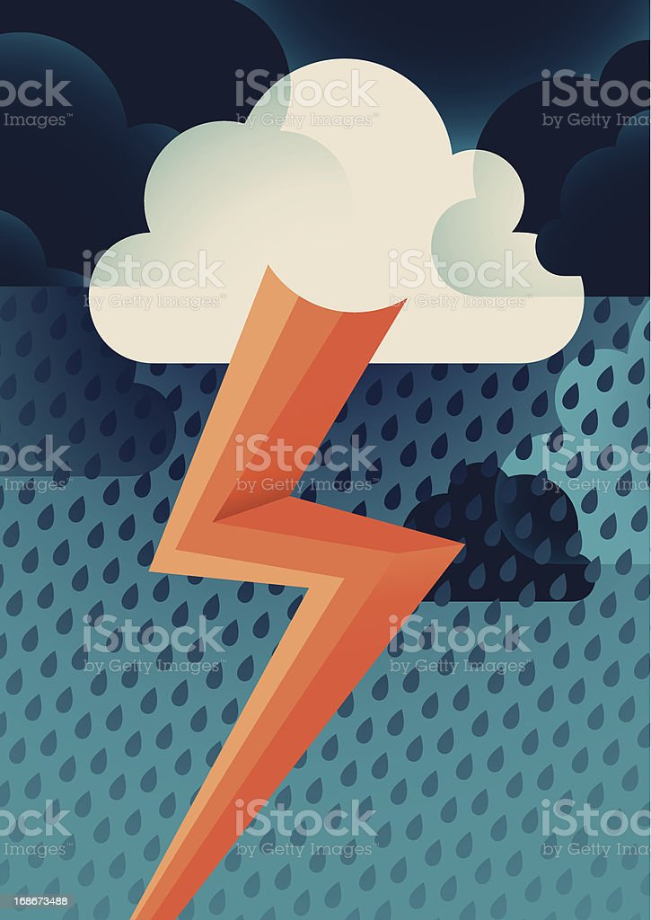 Stormy cloud. royalty-free stock vector art
