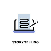 Story Telling Line Icon