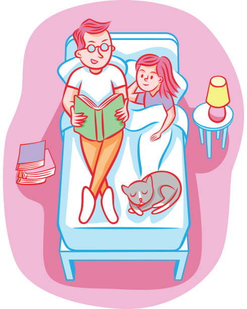 story time - bedtime story stock illustrations