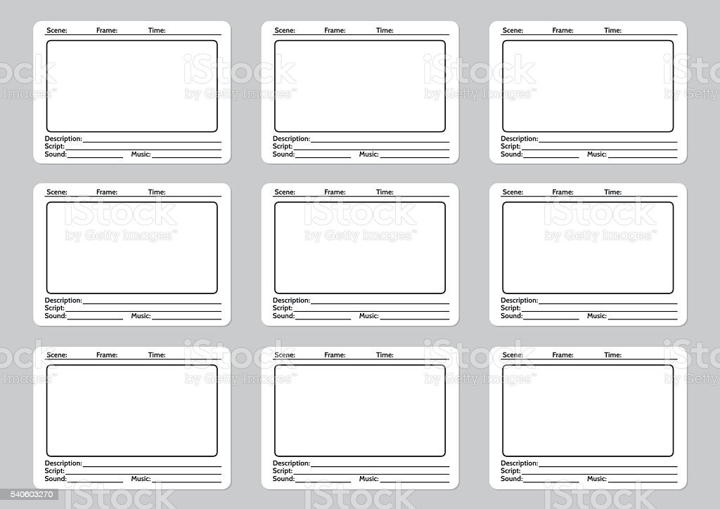 Storyboard template for film story vector art illustration