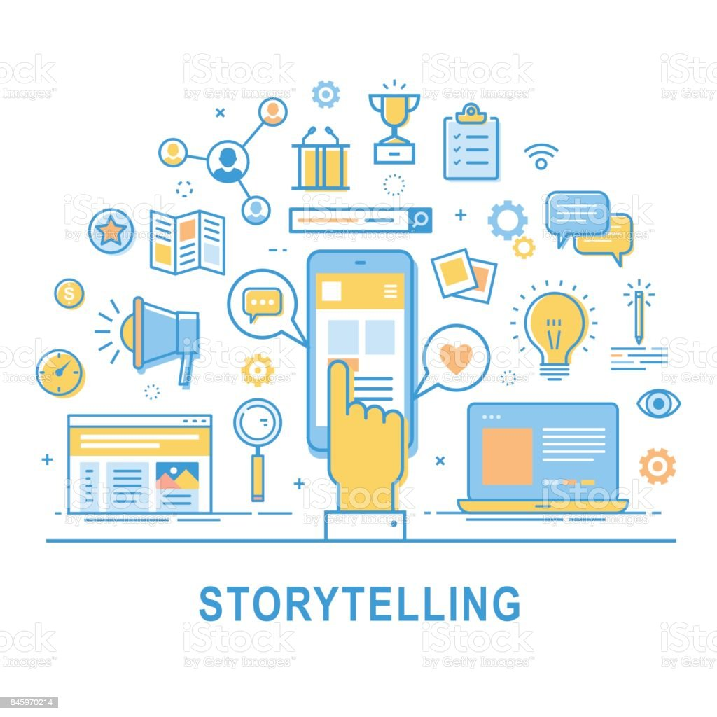 Storytelling. vector art illustration