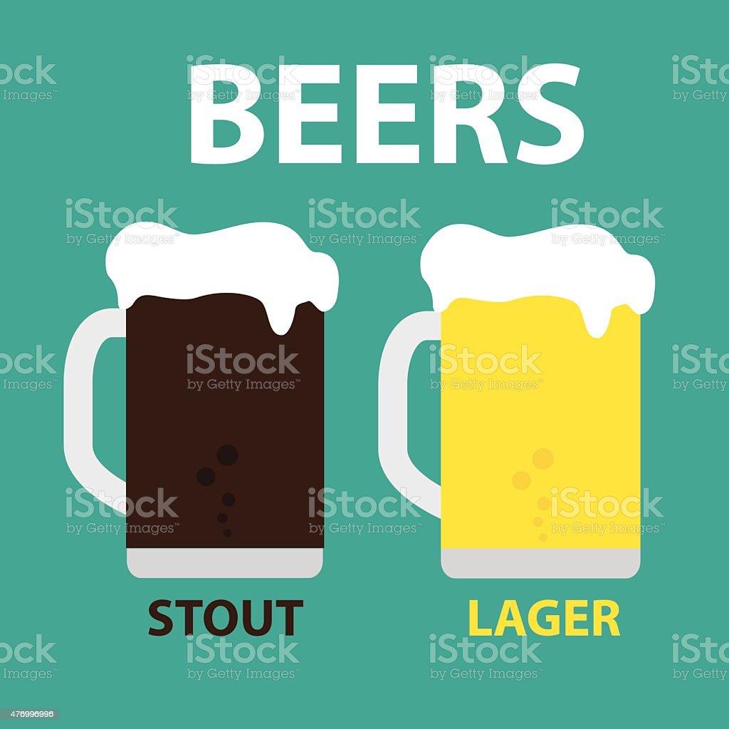 Stout & Lager vector art illustration