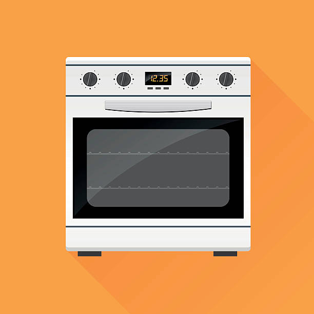 stove gas oven design icon Illustration of stove gas oven design icon oven stock illustrations
