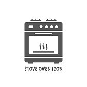 istock Stove oven icon simple flat style vector illustration. 1189945510