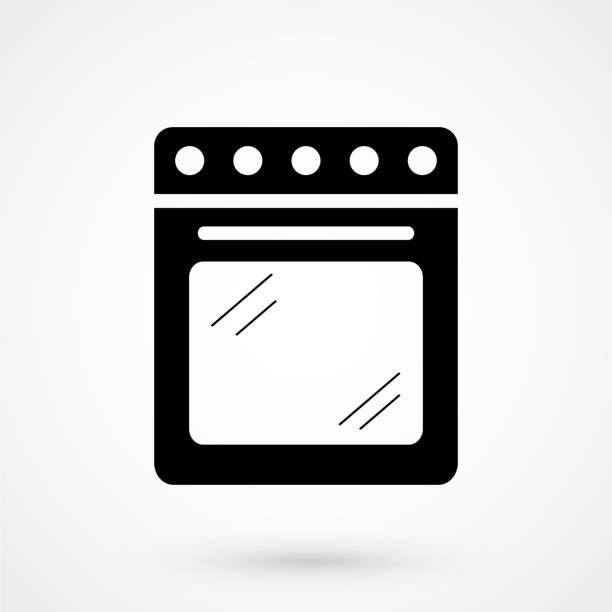 Stove vector icon Stove vector icon oven stock illustrations