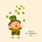 St.Patrick 's Day. Leprechaun, Traditional national character of Irish folklore. Festive collection. Isolated. Vector