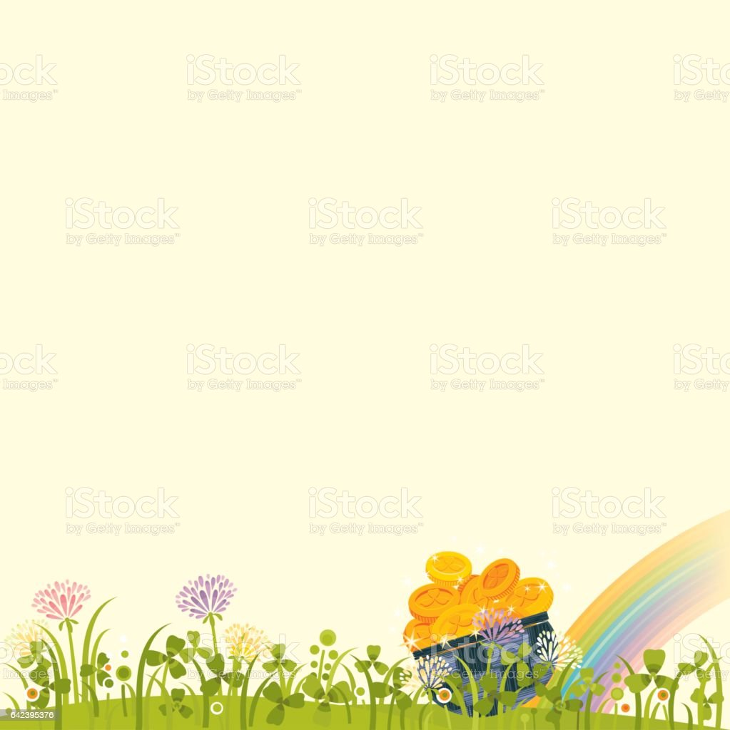 St.Patrick's Day Background royalty-free stpatricks day background stock vector art & more images of backgrounds