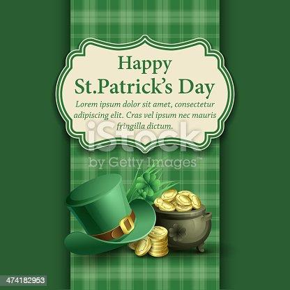 istock St.Patrick's Day background. Vector illustration 474182953