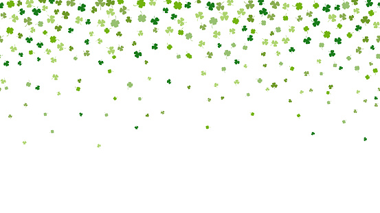 St.Patrick's day horizontal seamless background
