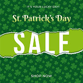 St.Patrick's day sale background for advertising, banners, leaflets and flyers - Illustration