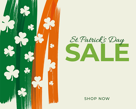 St.Patrick's day sale background for advertising, banners, leaflets and flyers