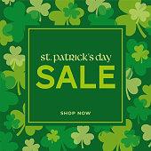 St.Patrick's day sale background. - Illustration