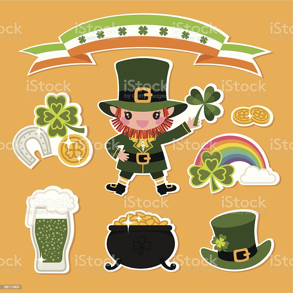 St.Patrick's Day Symbols. royalty-free stpatricks day symbols stock vector art & more images of beer - alcohol