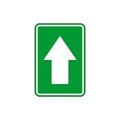 Straight Arrow Signage Vector Template Illustration Design. Vector EPS 10.
