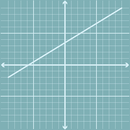 Straight Line On Graph Page Of Blue Color Using X And Y Axis