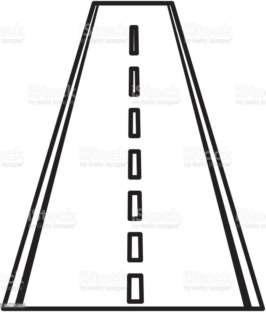 Düz yolda izole simgesi royalty-free düz yolda izole simgesi stok vektör sanatı & amblem'nin daha fazla görseli