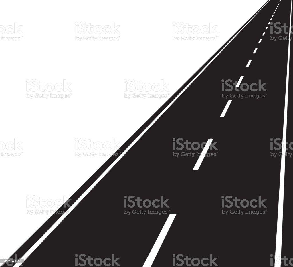 Straight road vector art illustration