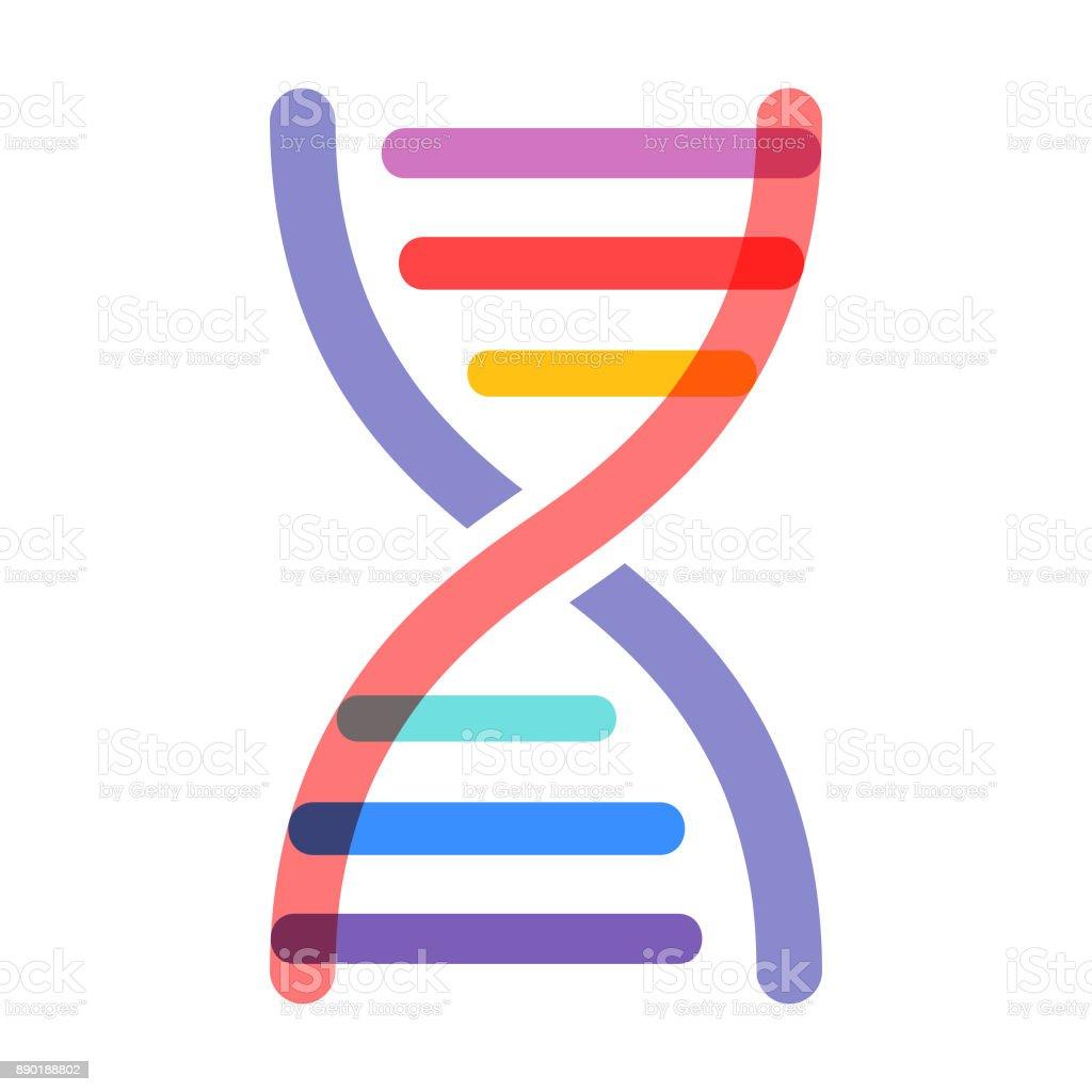 Uma cadeia de DNA - vetor - ilustração de arte em vetor