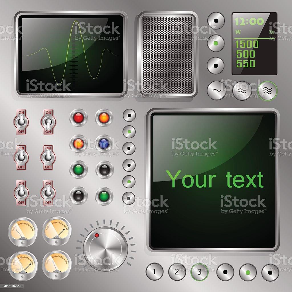 strange electronic device vector art illustration